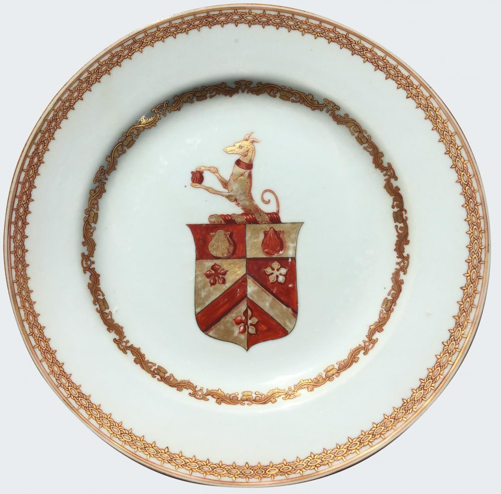 Chinese Export Porcelain Armorial Plates English Qianlong