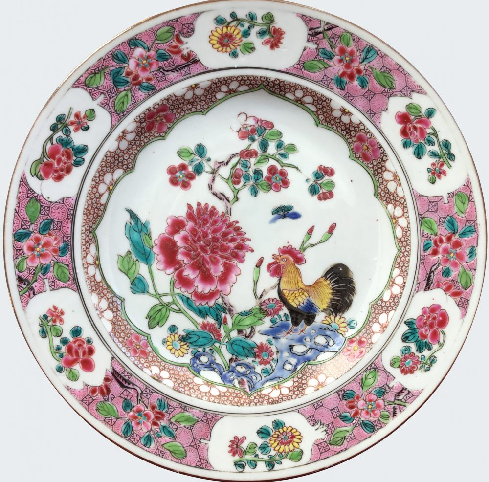 chinese export porcelain yongzheng famille rose cockerels. Black Bedroom Furniture Sets. Home Design Ideas