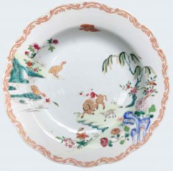 Famille rose Porcelaine Qianlong (1735-1795), Circa 1735-1750, China