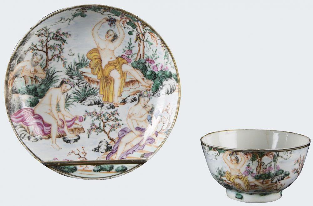 Famille rose Porcelaine Qianlong (1736-1795), vers 1745, Chine
