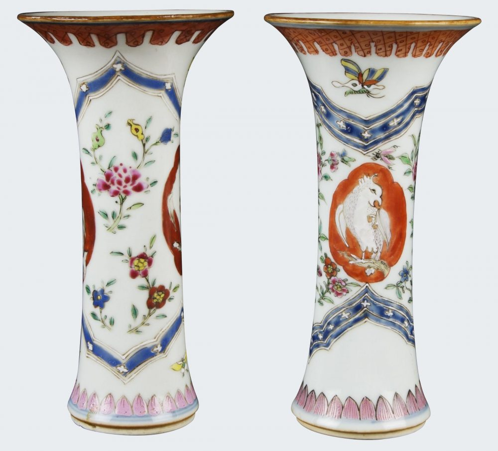 Famille rose Porcelain Qianlong (1736-1795), vers 1740, Chine
