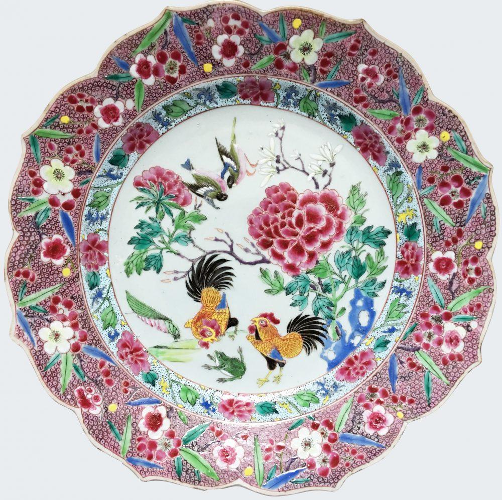 Famille rose Porcelaine Fin de la période Yongzheng (1723-1735), début de la période Qianlong (1736-1795), Chine