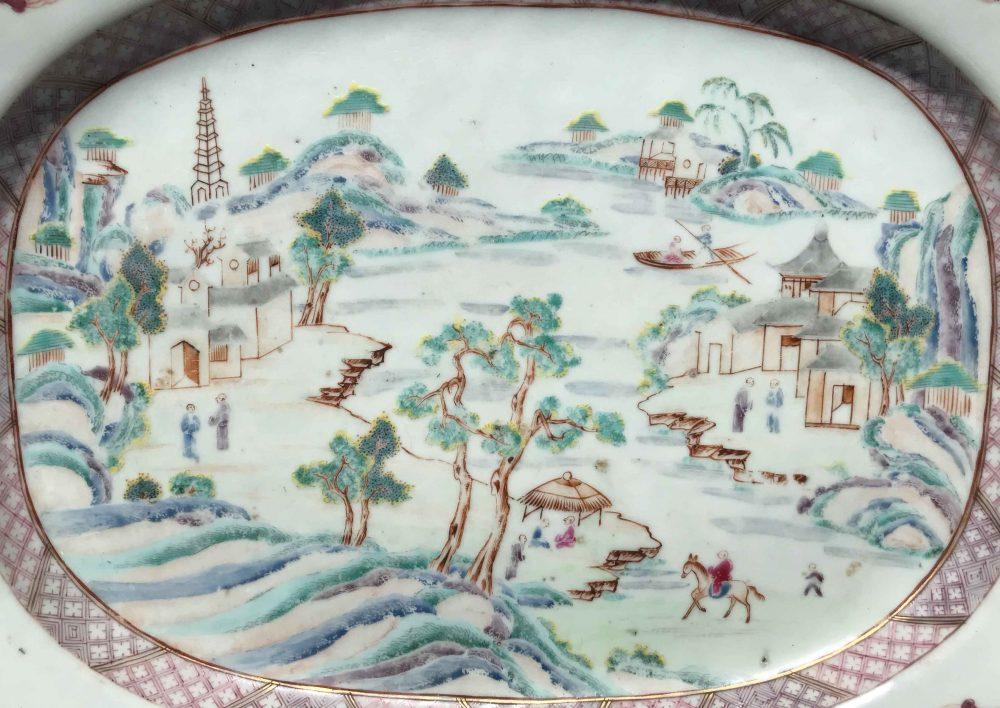 Famille rose Porcelaine Qianlong (1736-1795), Chine