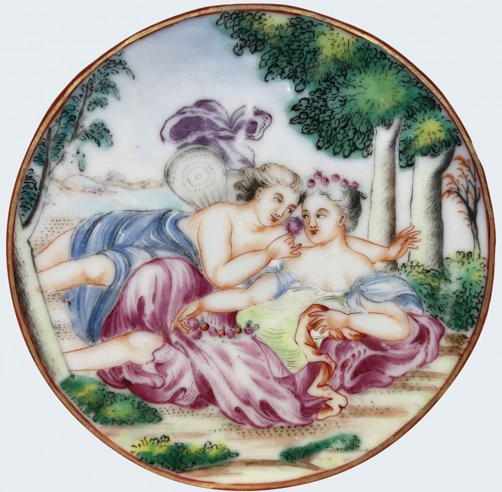 Famille rose Porcelaine Qianlong (1735-1795), circa 1785, Chine