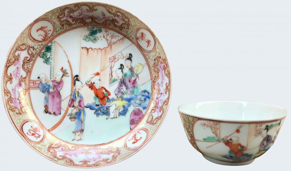 Famille rose Porcelaine Qianlong (1735-1795), circa 1740/50, Chine
