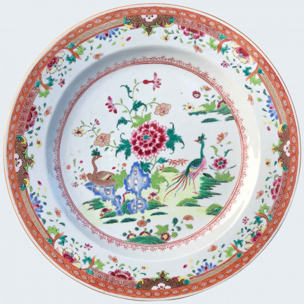 Famille rose Porcelaine Qianlong (1735-1795), after 1775, Chine