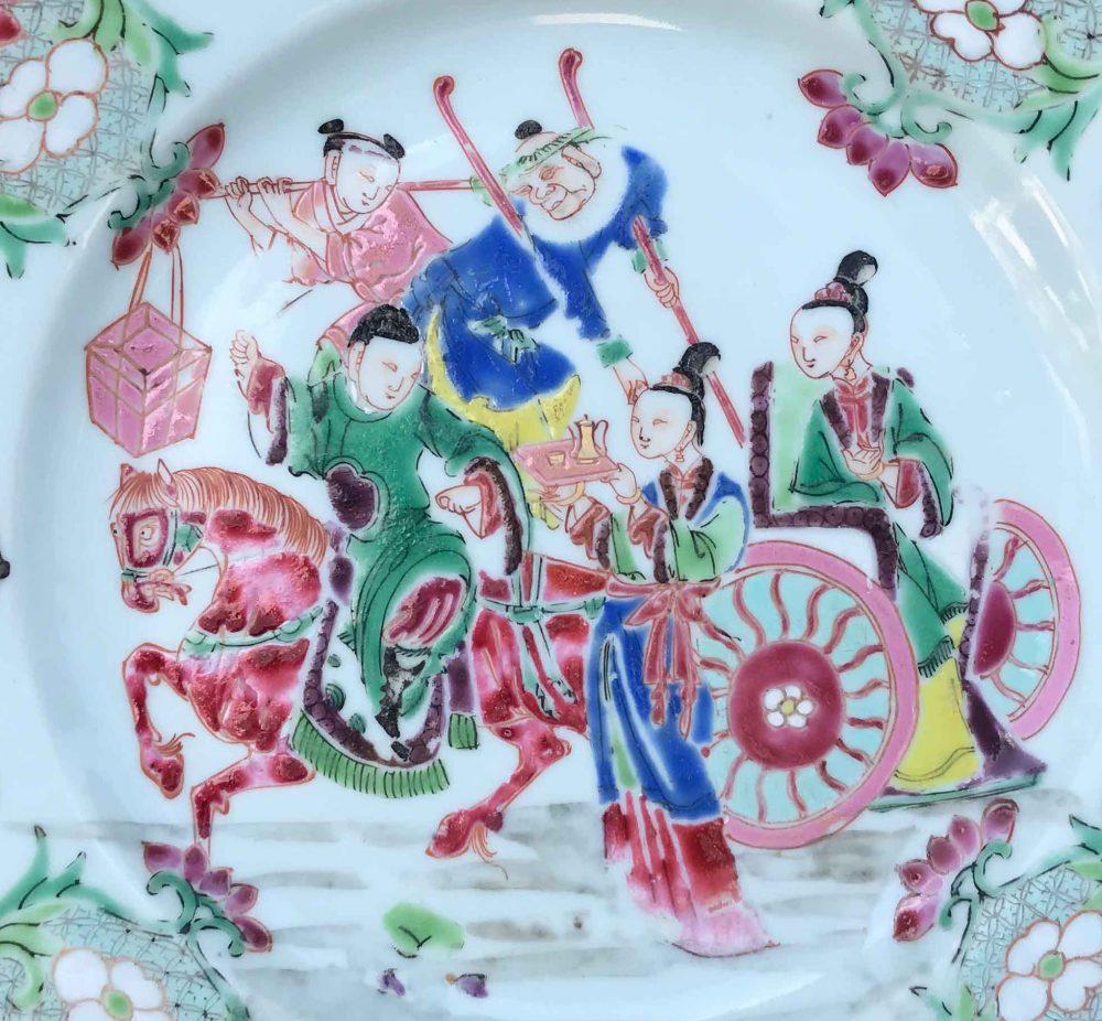 Famille rose Porcelain Yongzheng (1723-1735), Chine