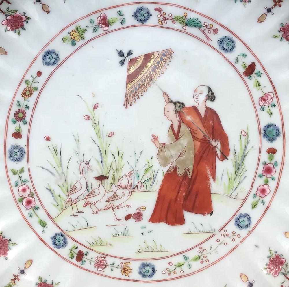 Famille rose Porcelaine Qianlong (1735-1795), circa 1740/45, Chine