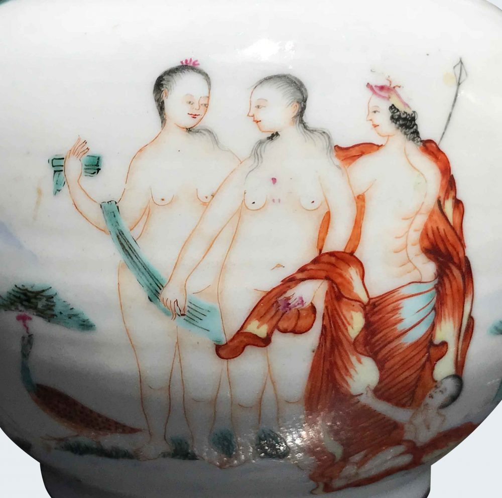 Famille rose Porcelaine Qianlong (1735-1795), circa 1745, Chine