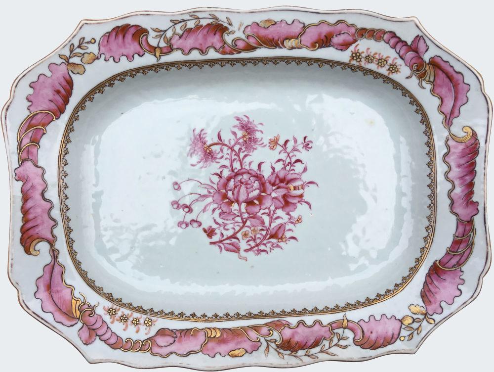 Famille rose Porcelaine Qianlong (1735-1795), circa 1750-1770, Chine