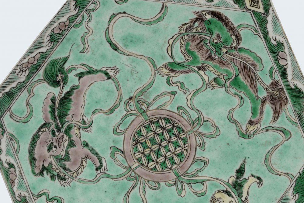 Famille verte Porcelaine Kangxi, Chine