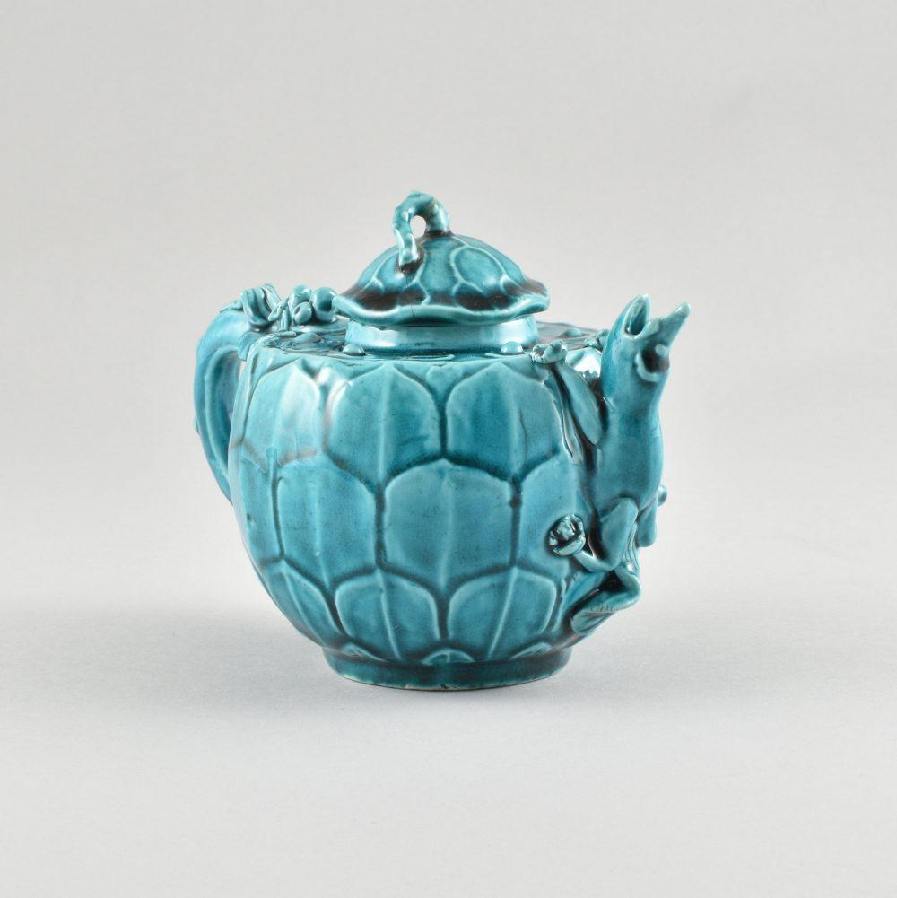 Biscuit de porcelaine émaillé turquoise Kangxi (1662-1722), Chine